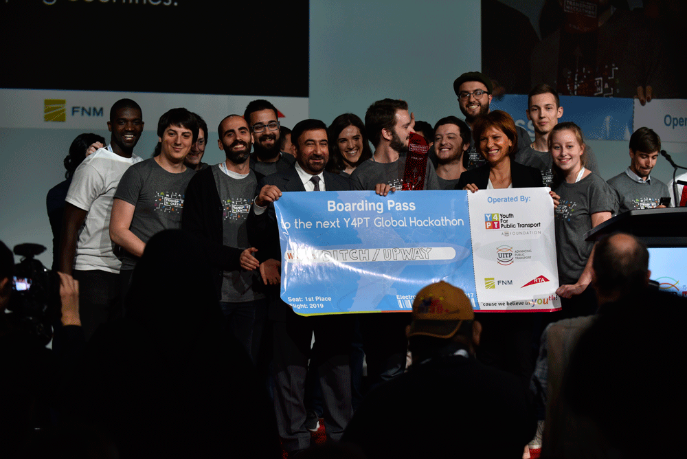 Winners of the Y4PT Global Transport Hackathon were announced at the Opening ceremony - © UITP / P. Bourque