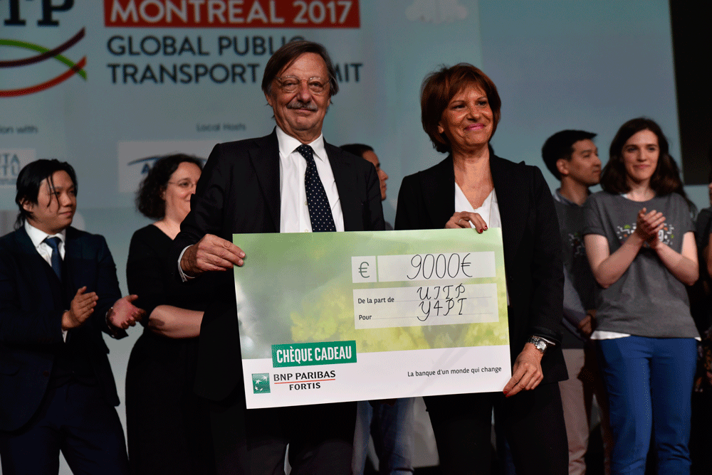 Alain Flausch, UITP Secretary General, and Alessandra Gorini, CEO of Y4PT - © UITP / P. Bourque